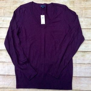 NWT Gap V Neck Sweater Size M